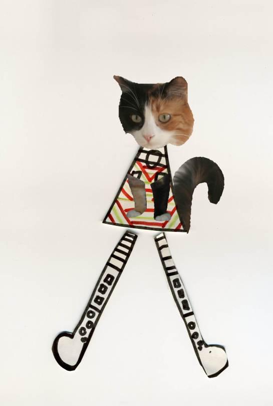 chat avec bottes mini
